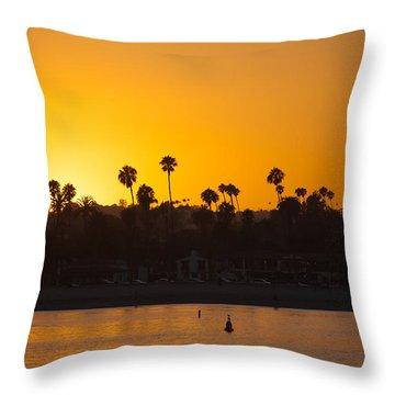 Sunset Santa Barbara Throw Pillow by Ralf Kaiser