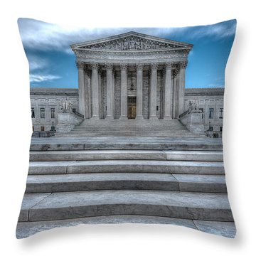 Throw Pillow featuring the photograph Supreme Court by Peter Lakomy