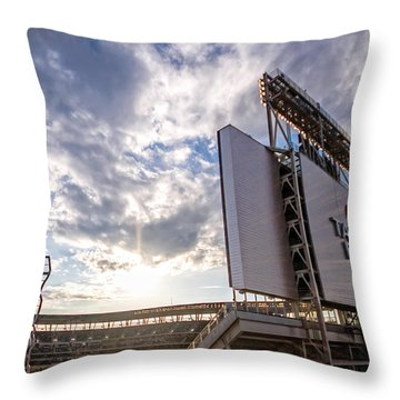 Target Field Sunset Throw Pillow by Tom Gort