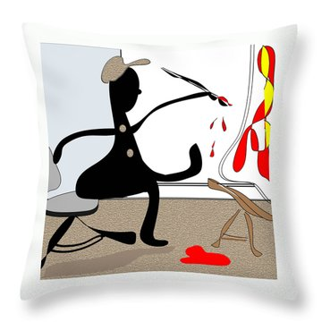 The Artist Throw Pillow by Iris Gelbart