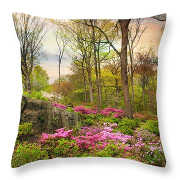The Azalea Garden Throw Pillow