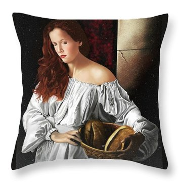The Beauty Cult Throw Pillow by Andrew Harrison