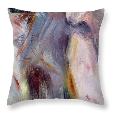 The Dance In The Country Throw Pillow by Pierre Auguste Renoir