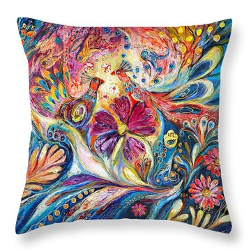 The Flowers Of Sea Throw Pillow by Elena Kotliarker