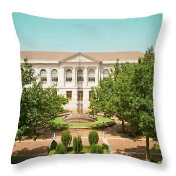 The Old Main - University Of Arkansas Throw Pillow by Mountain Dreams