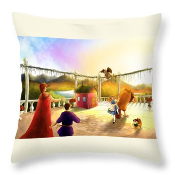 The Palace Balcony Throw Pillow