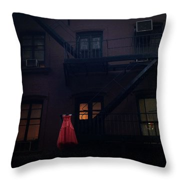 The Red Gown Throw Pillow
