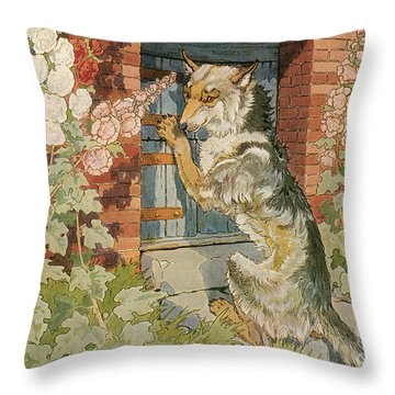 The Three Little Pigs Throw Pillow by Granger