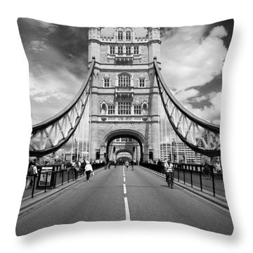 Throw Pillow featuring the photograph Tower Bridge In London by Chevy Fleet