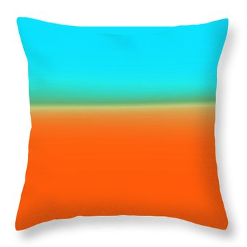 Travelling Through Paradise Throw Pillow