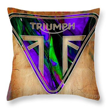 Triumph Motorcycle Throw Pillow