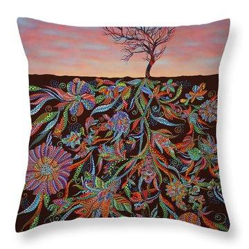 Twilight Throw Pillow by Erika Pochybova