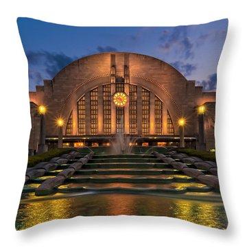 Union Terminal Throw Pillow