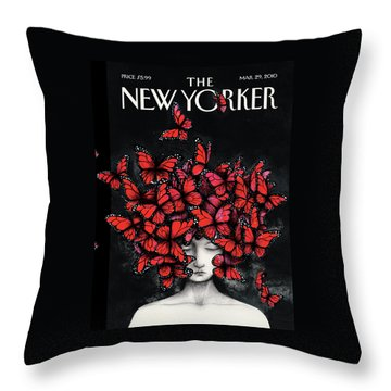 New Yorker March 29th, 2010 Throw Pillow