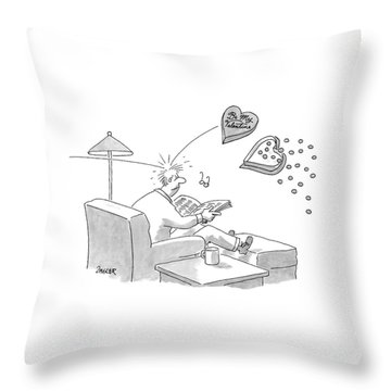 New Yorker February 11th, 2008 Throw Pillow