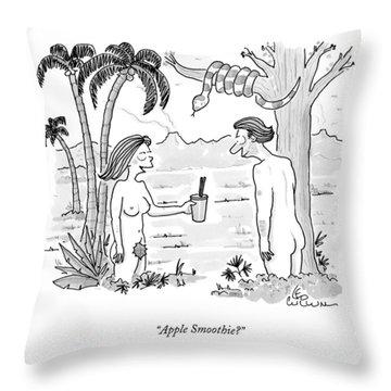 Apple Smoothie? Throw Pillow