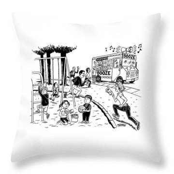 New Yorker July 21st, 2008 Throw Pillow