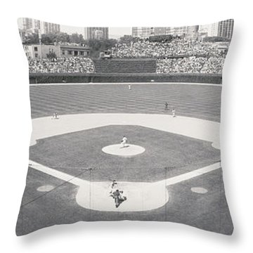 Usa, Illinois, Chicago, Cubs, Baseball Throw Pillow