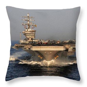 Uss Dwight D. Eisenhower Throw Pillow