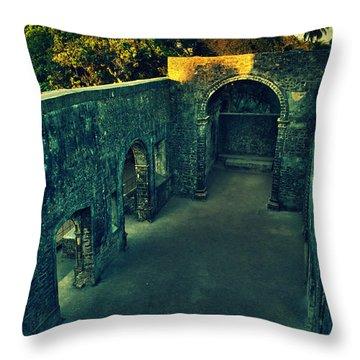 Vasai Fort Throw Pillow by Salman Ravish