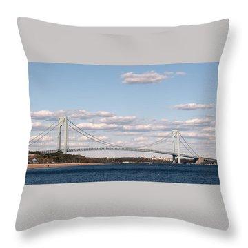 Verrazano Narrows Bridge Throw Pillow