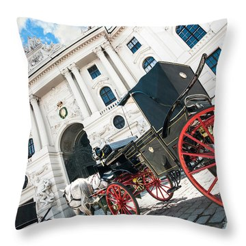 Vienna Throw Pillow by JR Photography