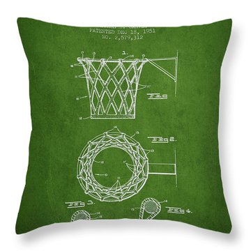 Basketball Goal Patent Throw Pillows