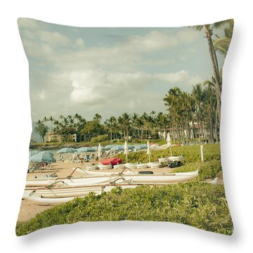 Wailea Beach Maui Hawaii Throw Pillow