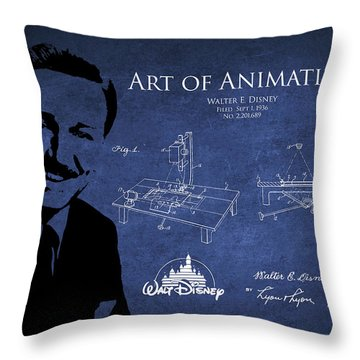 Walt Disney Patent From 1936 Throw Pillow