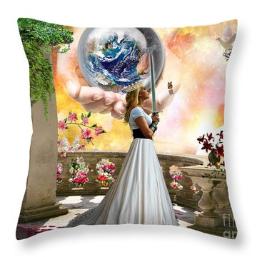 Warrior Bride Throw Pillow