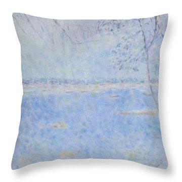 Water Of Les Iles De Lerins France Throw Pillow