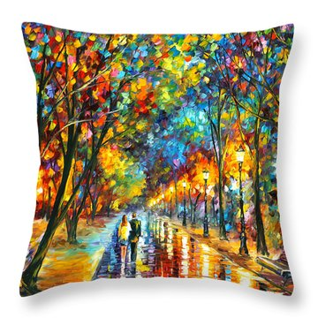 When Dreams Come True Throw Pillow by Leonid Afremov