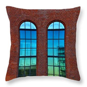 Windows Throw Pillow by Kent Mathiesen