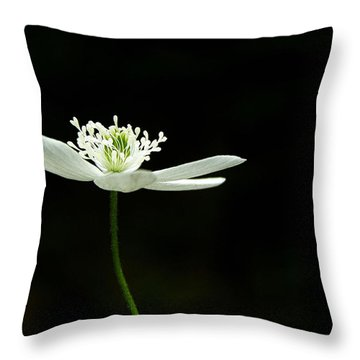 Wood Anenome Throw Pillow