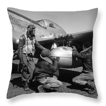 Wwii: Tuskegee Airmen, 1945 Throw Pillow by Granger