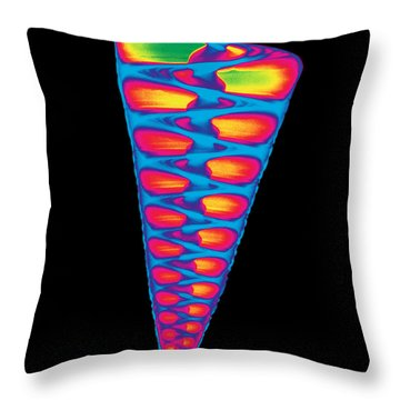 X-ray Of Top Shell Throw Pillow by Bert Myers