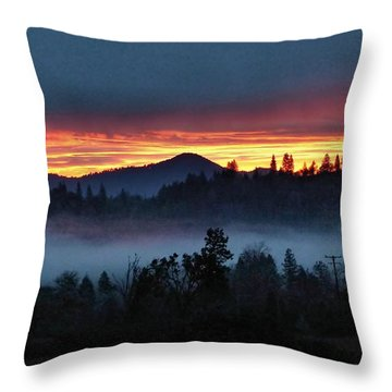 30 Min Before Sunrise Throw Pillow