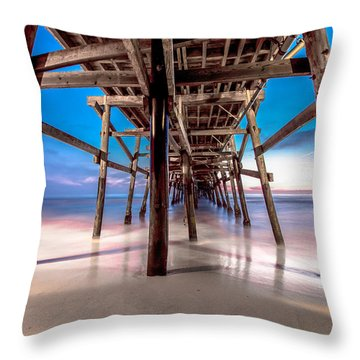 30 Seconds Under San Clemente Pier Throw Pillow