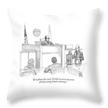 If It Please The Court Throw Pillow