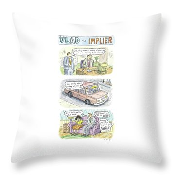 New Yorker May 19th, 2008 Throw Pillow