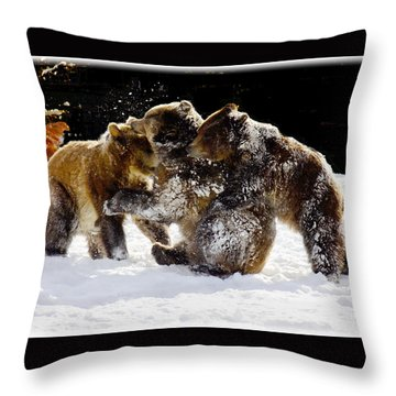 300 Pound Playmates Throw Pillow
