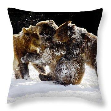 300 Pound Playmates Throw Pillow by Kae Cheatham