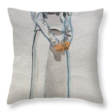 A Day At The Seashore 1 Throw Pillow