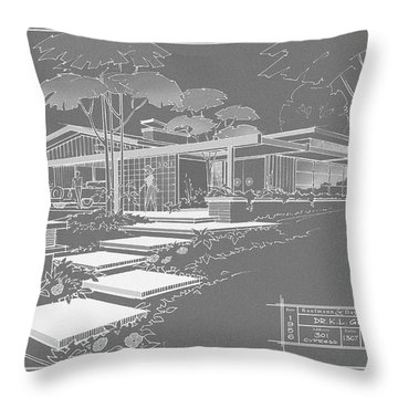 301 Cypress Drive - Charcoal Throw Pillow