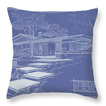 301 Cypress Drive - Reverse Throw Pillow