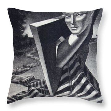 Architecture Of Imagination Throw Pillow