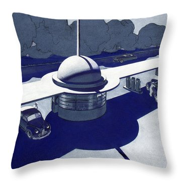 Roadside Of Tomorrow Throw Pillow by Robert Poole