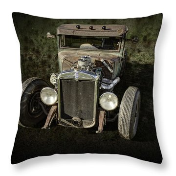 31 Chevy Rat Rod Throw Pillow by Thomas Young