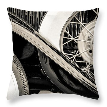 '31 Model A Wheels Throw Pillow
