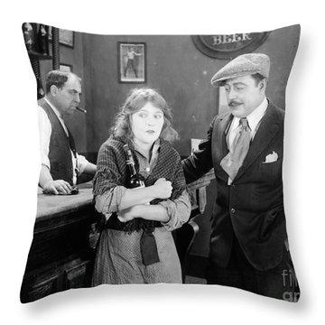 Silent Film Still: Drinking Throw Pillow by Granger